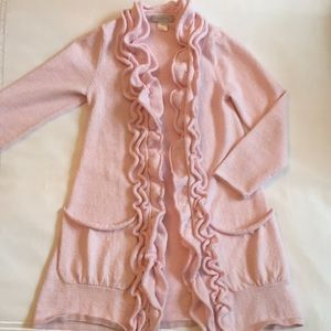 PERFECT FOR EASTER Girl's Long Pink Sweater; Sz M